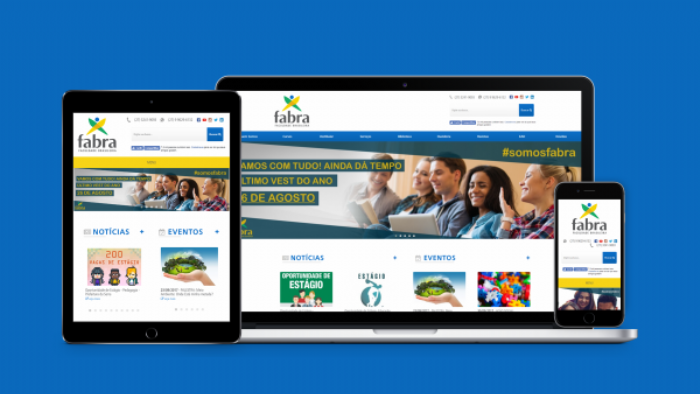 Imagem de Redesign de layout do site Faculdade Fabra